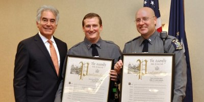 Two Upstate police officers honored for bravery and heroism