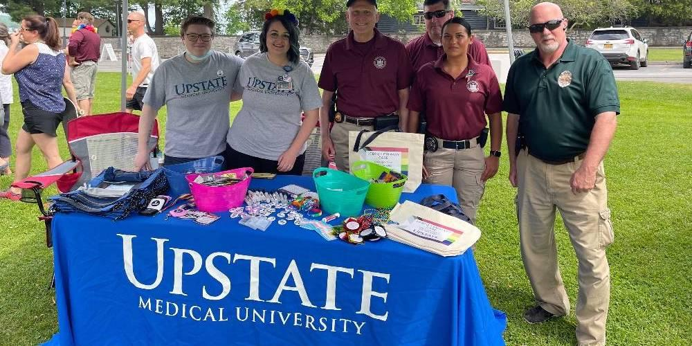 COMMUNITY CONNECTIONS: Upstate's Inclusive Health Services had a display booth out at the Cazenovia Pride Fest June 19 in celebration of Pride Month. IHS offers an affirming space for primary care to the LGBTQ+ community, including transgender care, regardless of HIV status.