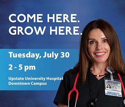 Nursing Careers at Upstate | Human Resources | SUNY Upstate