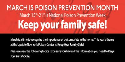 March is Poison Prevention Month