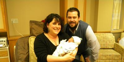 Meet baby Henry, the first baby born at Upstate in 2012