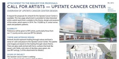 Cancer Center art proposal deadline extended to Friday, Dec. 6