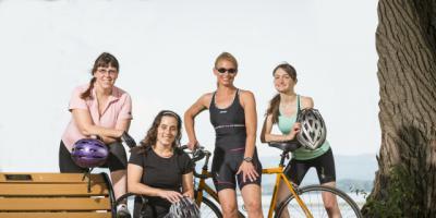 Training for Iron Girl Triathlon helped them stay healthy