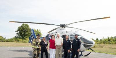 Quick call to 911, prompt response and fast flight to Upstate stroke center helped save the life of Larry Deshaw