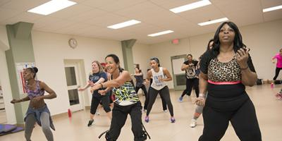 Nurse relieves stress, has fun with Zumba