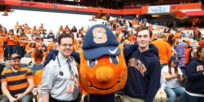 Syracuse University student died at a Carrier Dome basketball game - and lived to tell about it