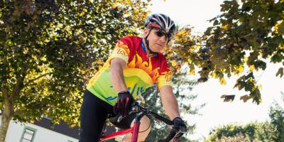 Riding again: He bicycles despite kidney transplant, cancer diagnosis