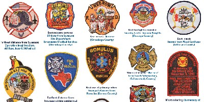 A patch collection grows in the burn center