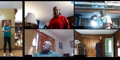 All together for tai chi (this time, online)